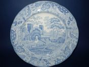 Copeland and Garrett 'Castle' Pattern Dinner Plate c1840